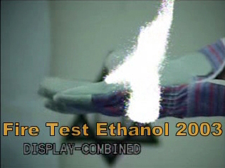 Viewing ethanol flames